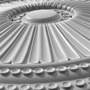 مدل سه بعدی گل گچبری سقف