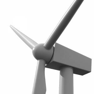 مدل سه بعدی توربین بادی