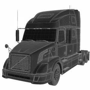 مدل سه بعدی کامیون کشنده شرکت ولوو
