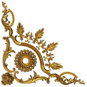 مدل سه بعدی گل گچبری کلاسیک