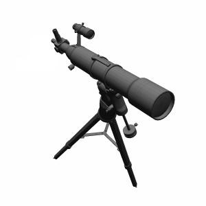 مدل سه بعدی تلسکوپ ستاره شناسی