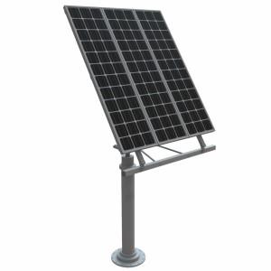 مدل سه بعدی پنل خورشیدی به همراه پایه