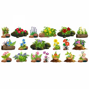 لایه باز انواع گل و گیاهان باغی