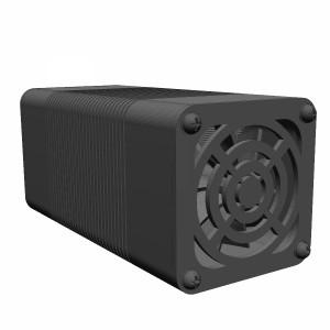 مدل سه بعدی هیت سینک خنک کننده به همراه فن