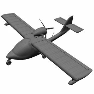 مدل سه بعدی هواپیمای تفریحی