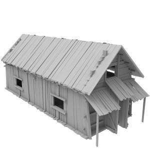مدل سه بعدی کلبه جنگلی