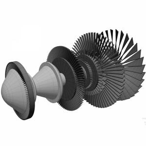 مدل سه بعدی موتور جت
