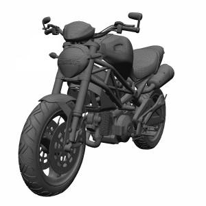 مدل سه بعدی موتور سیکلت دوکاتی
