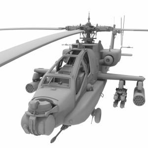 مدل سه بعدی هلی کوپتر جنگی