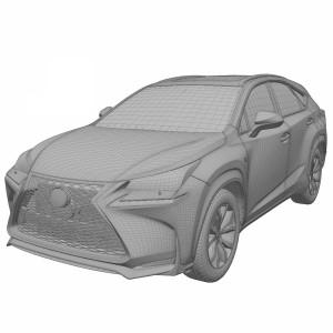 مدل سه بعدی ماشین لکسوس NX 2015