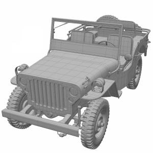 مدل سه بعدی ماشین Willys