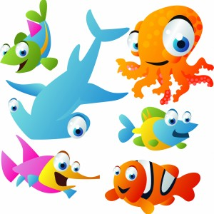 لایه باز طراحی دو بعدی ماهی ، کوسه