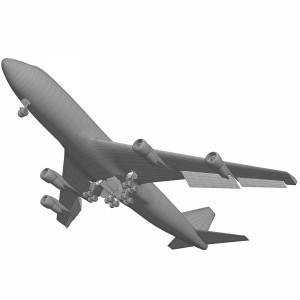 مدل سه بعدی هواپیمای مسافربری