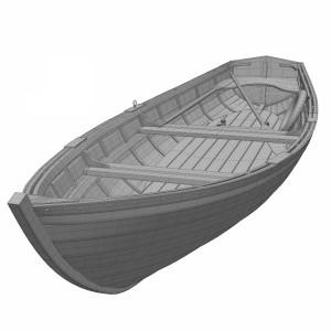 مدل سه بعدی قایق پارویی