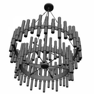 مدل سه بعدی لوستر سقفی مدرن