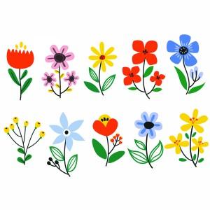لایه باز مجموعه گل های بهاری