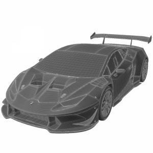 مدل سه بعدی ماشین لامبورگینی هوراکان 2014