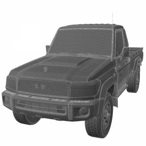 مدل سه بعدی تویوتا لندکروز j79 تک کابین 2007