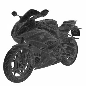 مدل سه بعدی موتور سیکلت بی ام و (بی ام دبلیو) 2018
