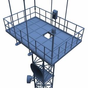مدل سه بعدی برج مخابراتی گیرنده و فرستنده