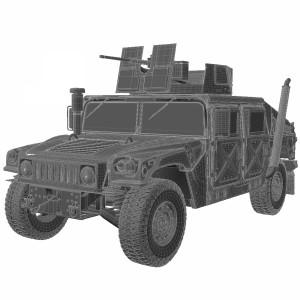 مدل سه بعدی خوروی زرهی جنگی