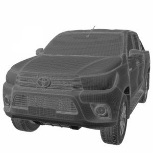 مدل سه بعدی تویوتا هایلوکس دو کابین