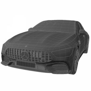مدل سه بعدی ماشین مرسدس بنز AMG GT