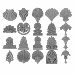 مدل سه بعدی گل های گچبری کلاسیک بیش از 200 مدل