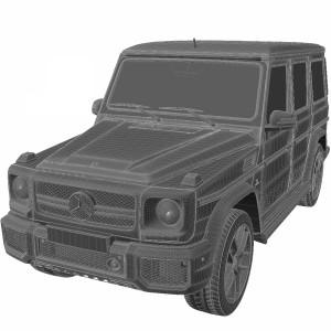 مدل سه بعدی ماشین مرسدس بنز شاسی بلندMercede G63