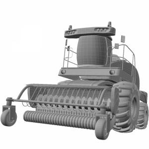 مدل سه بعدی ماشین کمباین کشاورزی