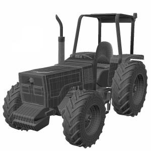 مدل سه بعدی تراکتور کشاورزی