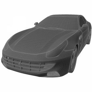 مدل سه بعدی ماشین فراری 2012