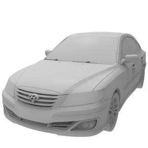 مدل سه بعدی ماشین هیوندا آزرا 2011