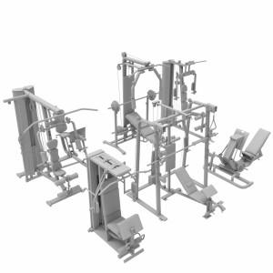 مدل سه بعدی دستگاه های بدنسازی باشگاهی