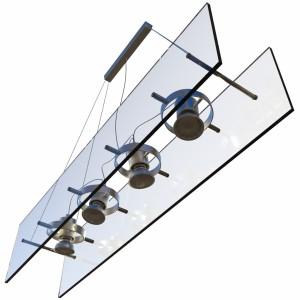 مدل سه بعدی چراغ آویز سقفی مدرن