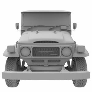مدل سه بعدی ماشین تویوتا پیکاپ 1979