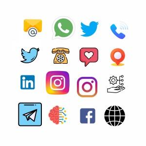 لایه باز لگو و آرم های شبکه های اجتماعی و ...