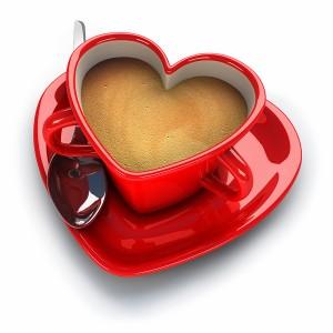 عکس فنجان قلبی سه بعدی