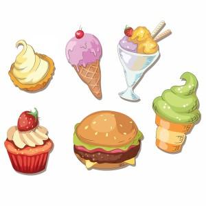 لایه باز انواع بستنی و همبرگر