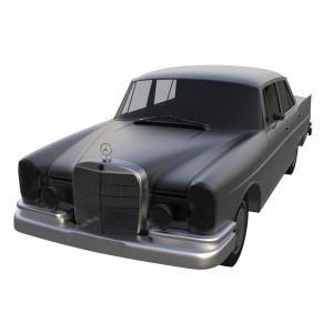 مدل سه بعدی مرسدس بنز مدل 300 SE W112 (1961)