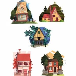 لایه باز انواع خانه جنگلی