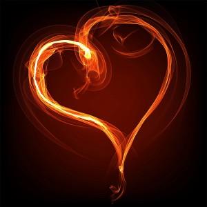 عکس قلب های عاشقانه آتشین