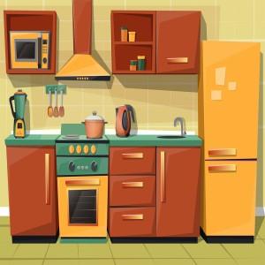 لایه باز آشپزخانه شامل:یخچال،هود و ...
