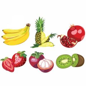 لایه باز انواع میوه موز،آناناس،انار