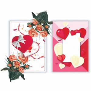لایه باز کارت پستال عاشقانه