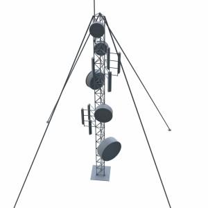 مدل سه بعدی برج فرستنده و گیرنده رادیو و تلویزیون