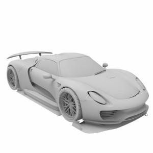 مدل سه بعدی ماشین پورشه 918