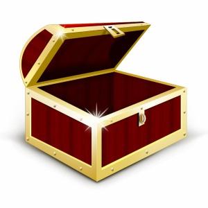 لایه باز صندوقچه جواهرات چوبی قدیمی