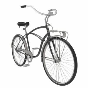 مدل سه بعدی دوچرخه قدیمی کلاسیک