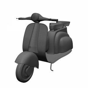 مدل سه بعدی موتورسیکلت قدیمی کلاسیک